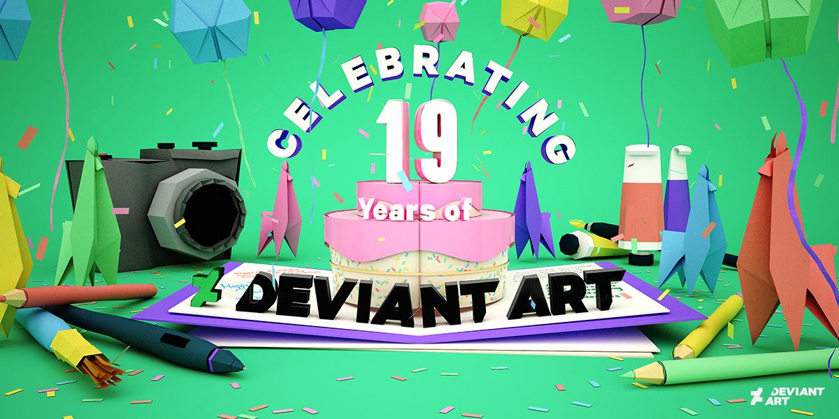 Celebrating 19 Years of DeviantArt! by team on DeviantArt