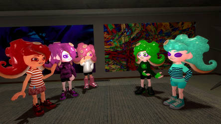 [Modified Character Update] The Octoling Gals by erhu1234