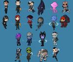 Mass Effect chibis