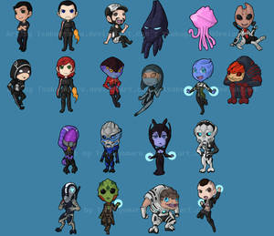 Mass Effect chibis