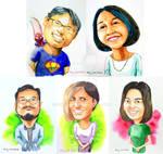 Watercolour Caricatures 7