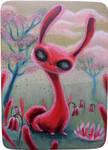 Blood Bunny - mini painting