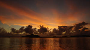 Sunrise in Seychelles