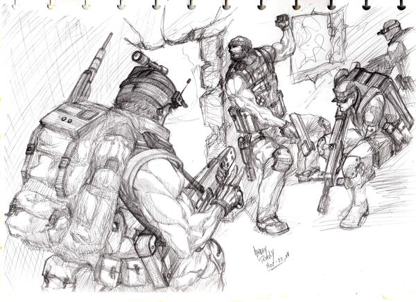Black Ops Zombies Coloring Pages