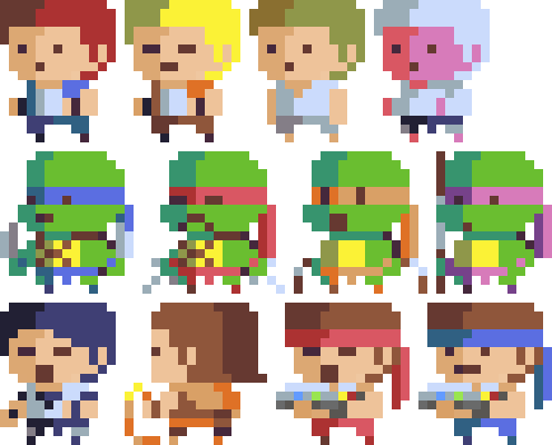 8 Bit Game Characters Fanart By Hendryroesly On Deviantart