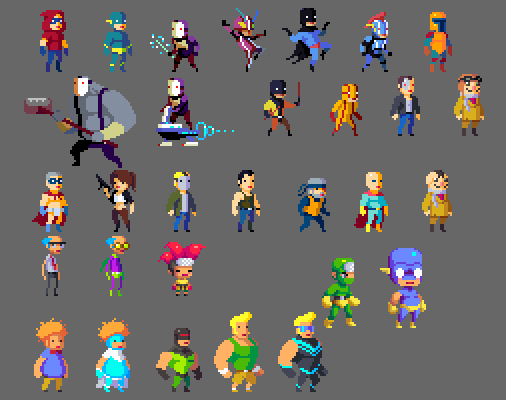 Pixel Character Design Tutorial : More character designs by hendryroesly on deviantart