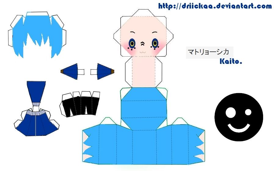 Matryoshka Kaito Papercraft by Driickaa
