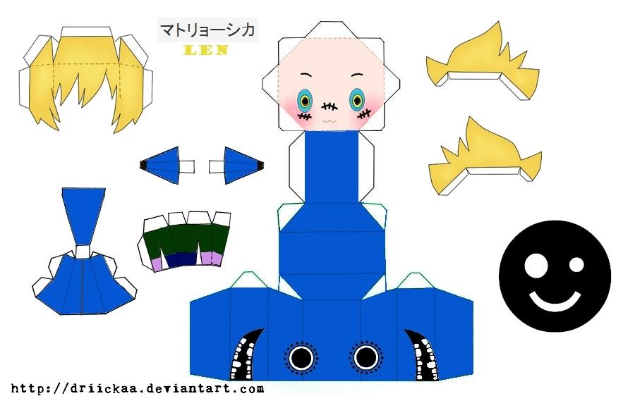 Matryoshka Len Papercraft by Driickaa