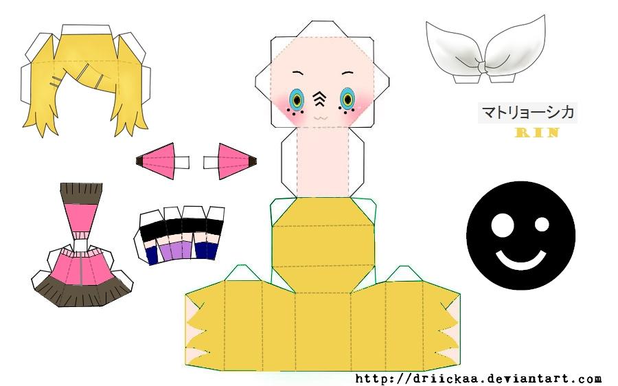 Matryoshka Rin Papercraft by Driickaa