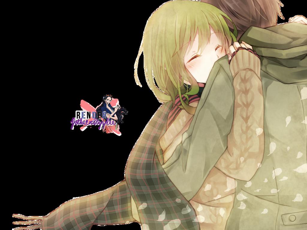 Render Gumi Hug a Boy by GothicxStyylee