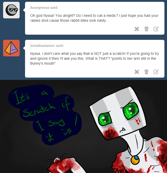 It's a scratch, honest. by Ask-Creeps-and-Lanky