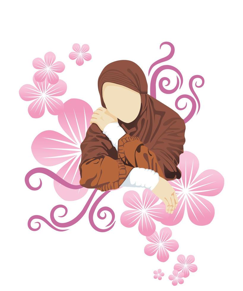 Muslimah in Flower by Redmoon85