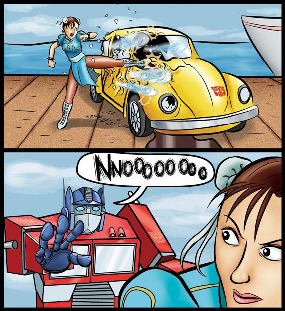 Optimus nooooo and chun li too by oogaa
