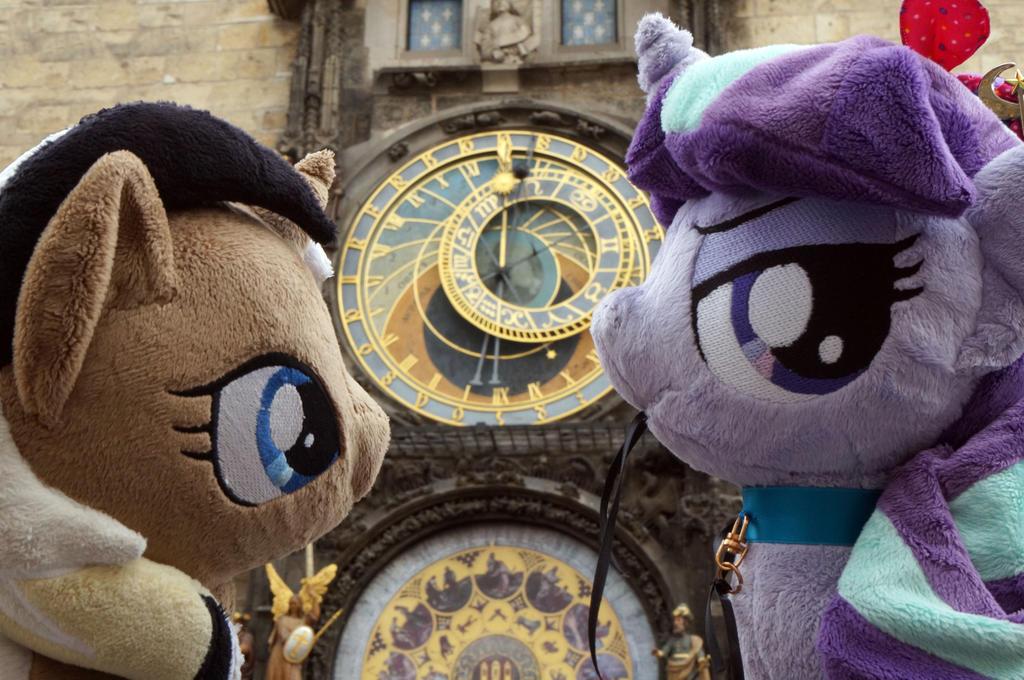 Unity and Starlight G. at Prague orloj by Cabraloca