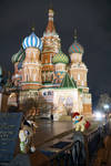 Unity and Aurora at Saint Basil's Cathedral Moscow by Cabraloca