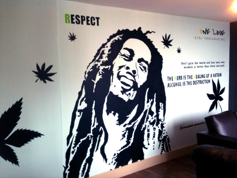 bob marley wall murals submited images