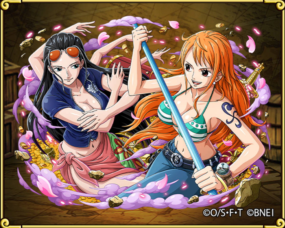 Nami and Robin one piece treasure cruise by Rosesaiyan on DeviantArt