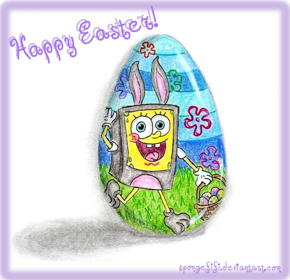 Happy Easter  2011  by Spongefifi on deviantART KIVx6Mbc