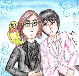 Lennon, McCartney and Parrot by Spongefifi