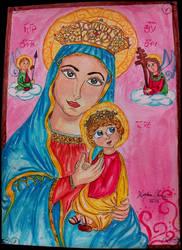 Virgen del Perpetuo Socorro (Perpetual Help) by Spongefifi