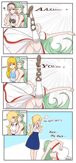 Palutena's back throw