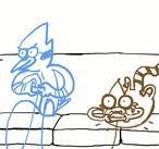 Mordecai and Rigby Are Playas by Jojobinks