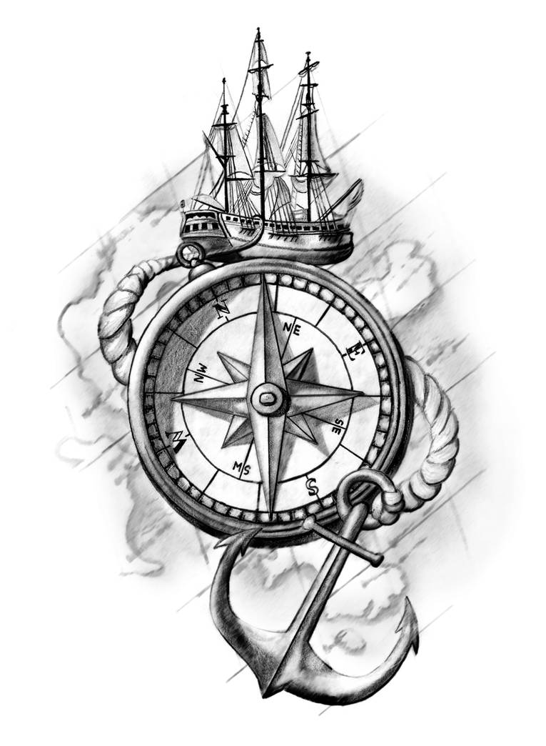 Compass Tattoo Design by cassiemunson-art on DeviantArt