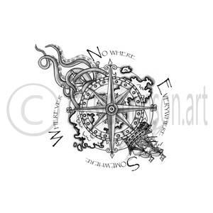 Nauticle Tattoo Design