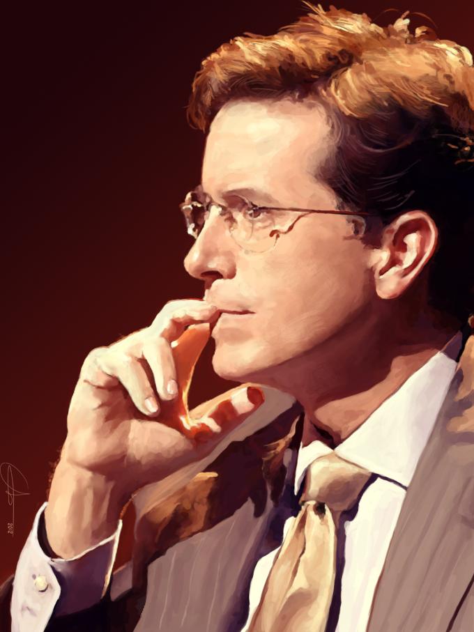Stephen Colbert by Hortensie-Stone