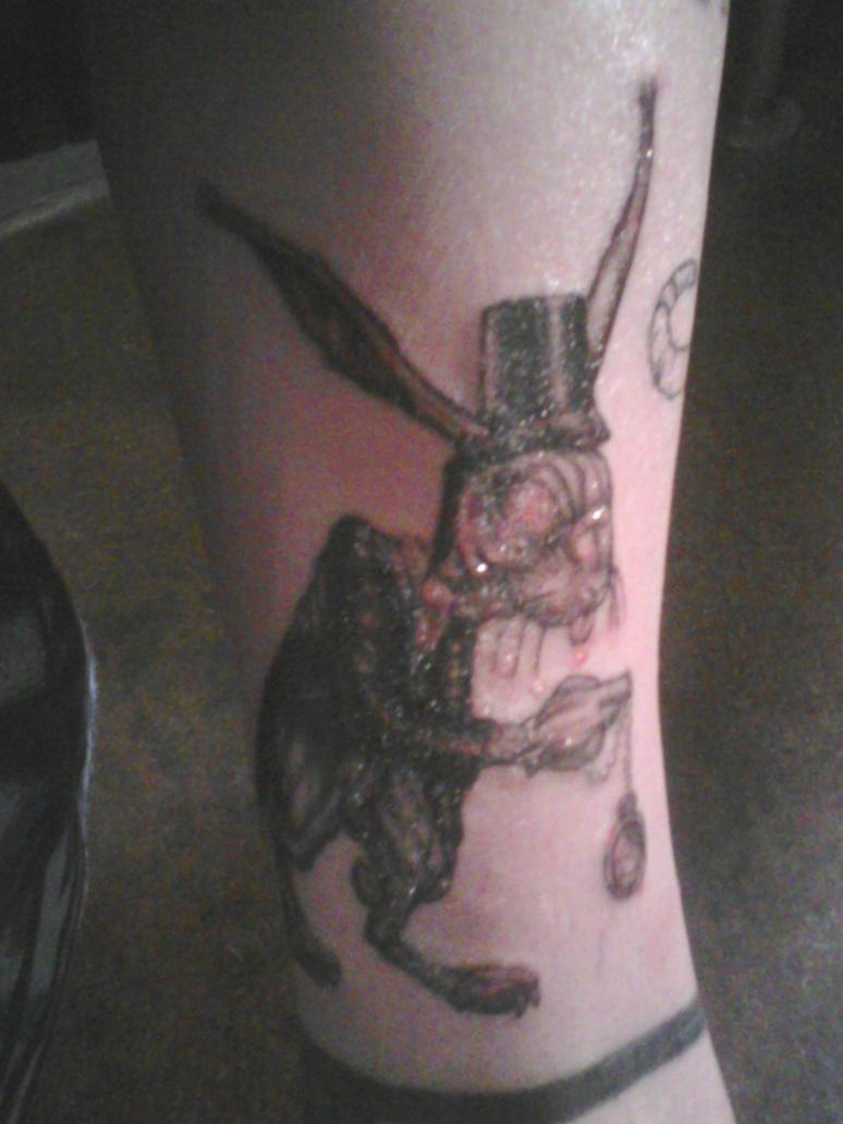 white rabbit tattoo matrix