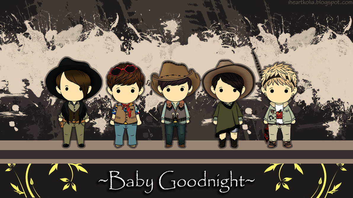 B1A4 Baby Goodnight Chibi  B1a4 Gongchan Baby Goodnight