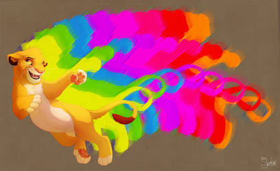 Double Rainbow Simba by Shembre