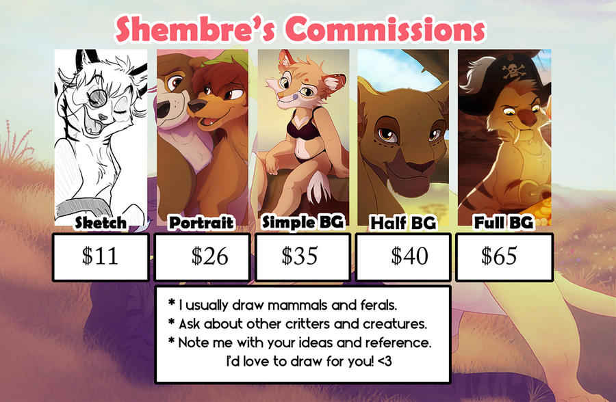 Shembre's Commissions 2016