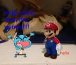 Gumball Meets Mario