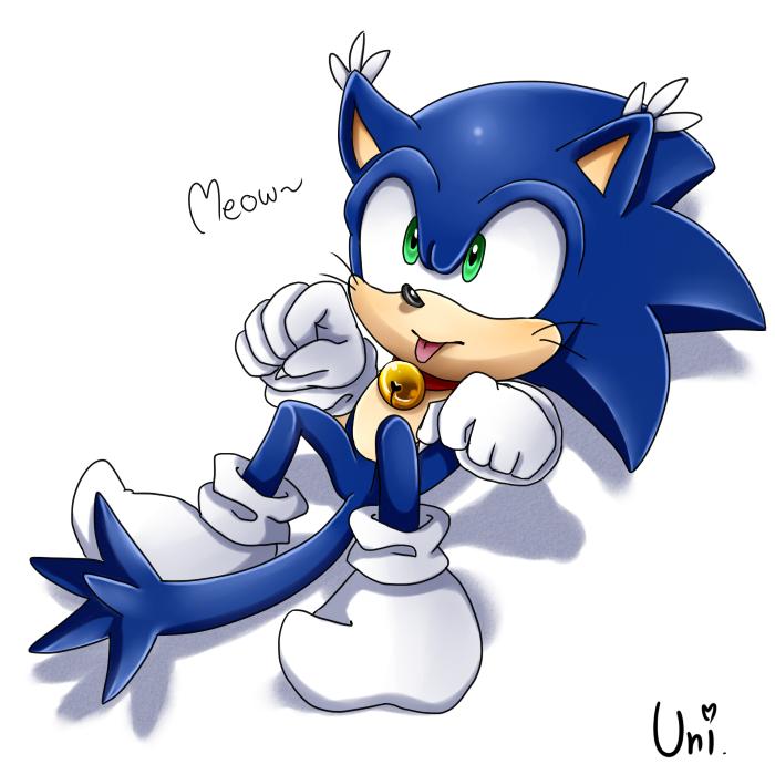 Sonic (cat versio) by JazuNeon on DeviantArt