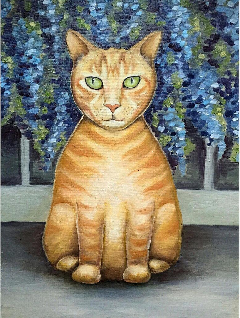 Ginger cat Olly by JulijaJan