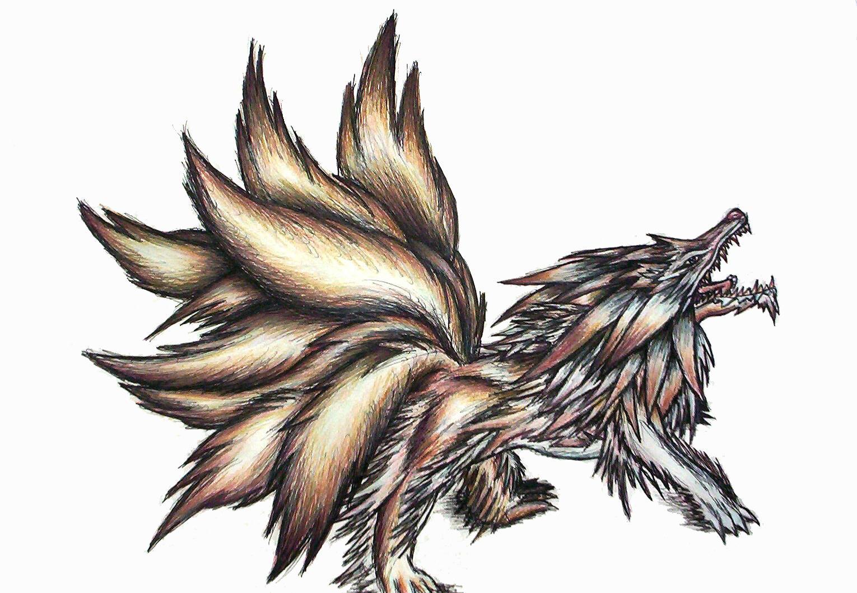 9 Tails Fox Demon Wolf Fusion By Chronamut On DeviantArt