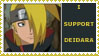 deidara stamp by sasukelover
