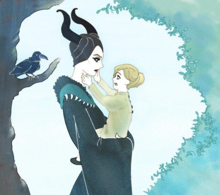 Maleficent and Aurora by supervergody on DeviantArt