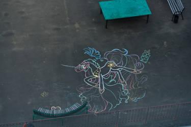 Princess Celestia - My First Huge Street Art :D