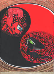 Ying and Yang - Tikki and Plagg by Gryphonia