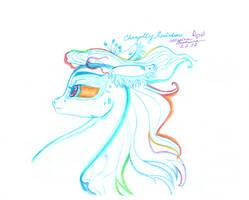 Changeling Rainbow Sketch (No Horn)