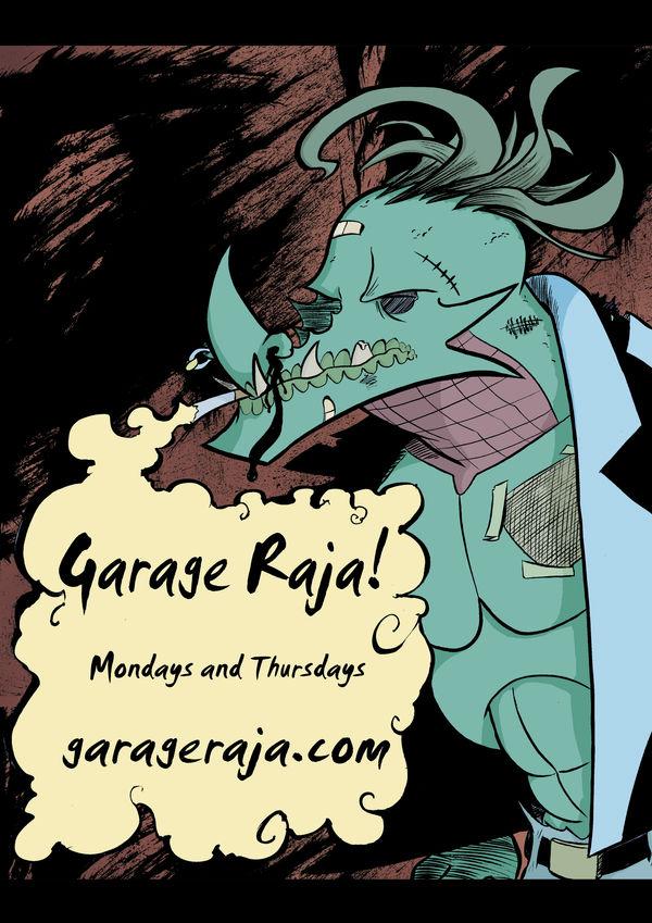 Garage Raja: BandPoster1 Color