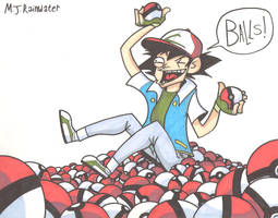 Commission: Ash Trippin Balls