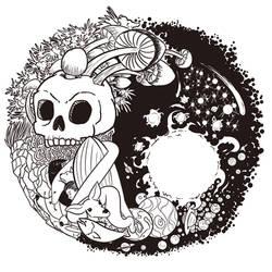 Yin and Yang Psychedlic Tattoo Commission