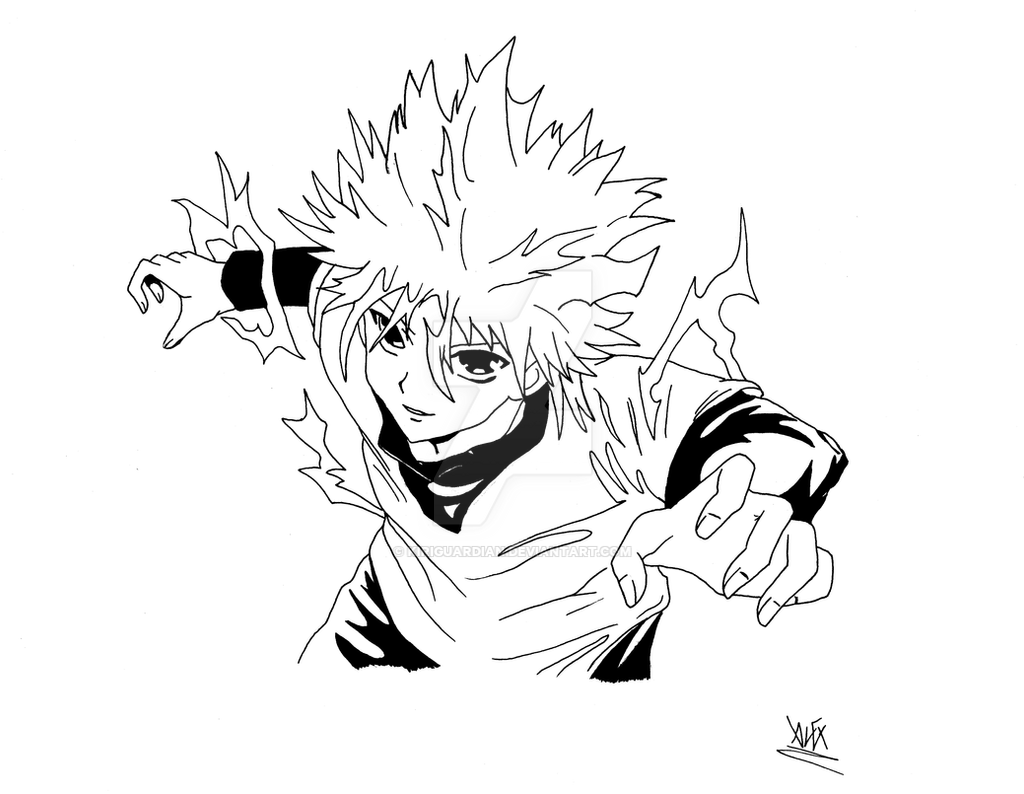This is a photo of Genius Hunter X Hunter Xname Drawing