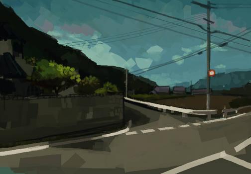 MSPaint Photo Study 7 (Google Street View)