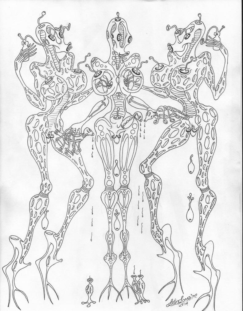 Alien Futas Mutating by LatexLorraine
