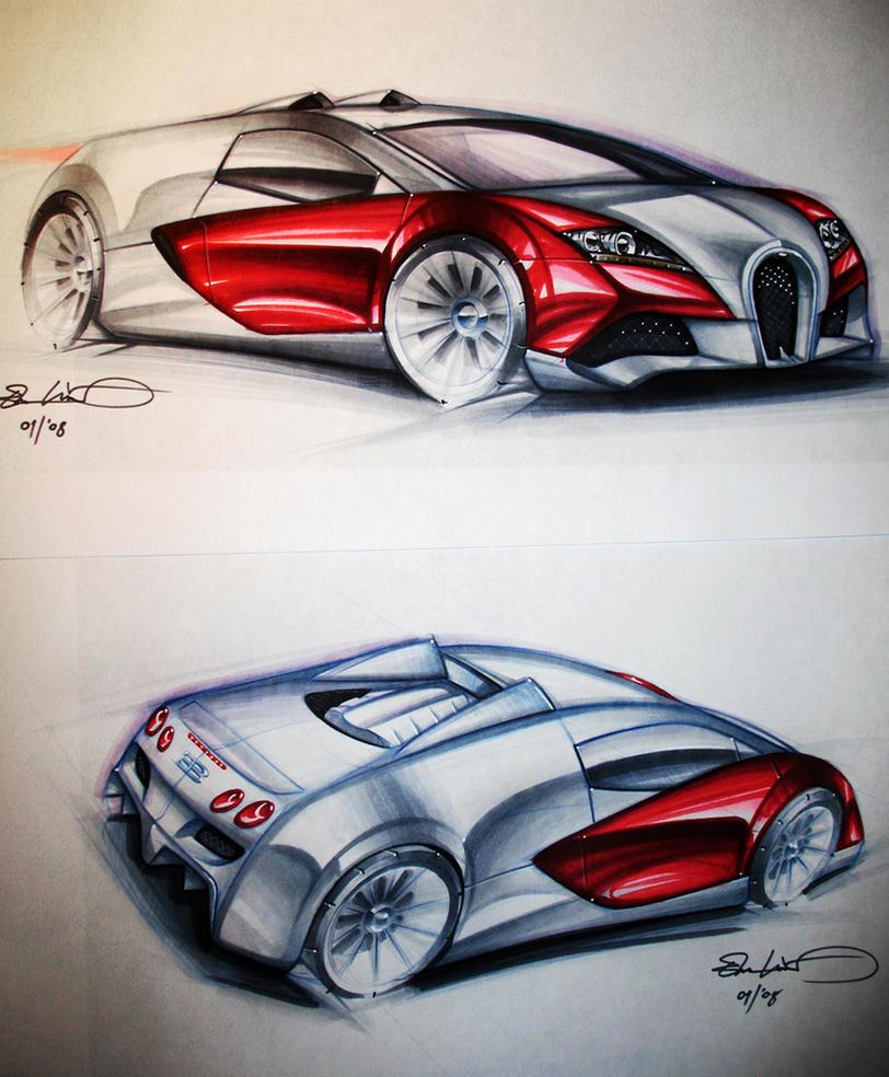 bugatti marker sketches by emrEHusmen
