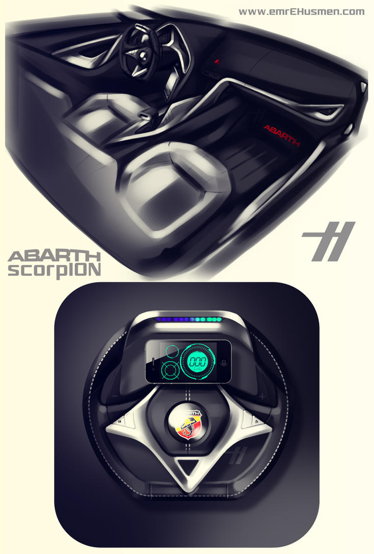 ABARTH scorpION - interior by emrEHusmen